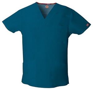 Dickies Scrubs 81906 Men's V-Neck Top in 13 colors